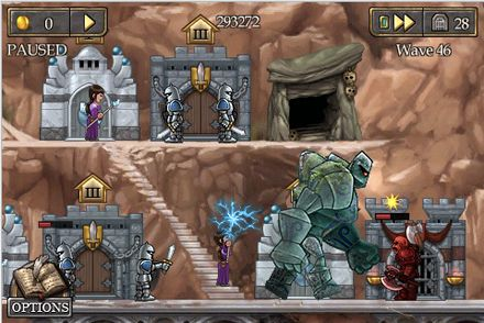 Screenshots of the Defender Chronicles game for iPhone, iPad or iPod.