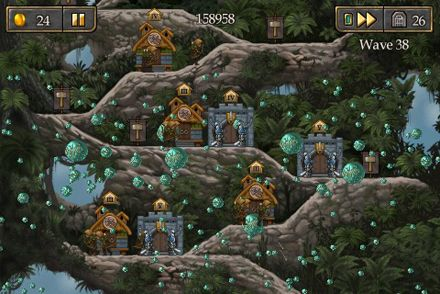 Capturas de pantalla del juego Defender Chronicles para iPhone, iPad o iPod.