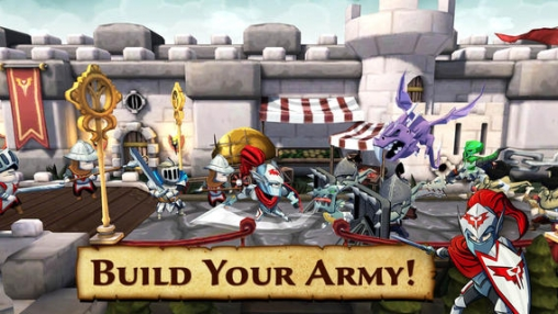 Écrans du jeu Defenders & Dragons pour iPhone, iPad ou iPod.