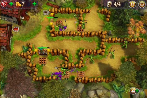Écrans du jeu Defenders of Suntoria pour iPhone, iPad ou iPod.