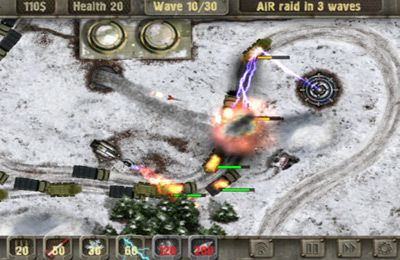 Screenshots of the Defense zone HD game for iPhone, iPad or iPod.
