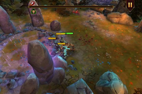 Écrans du jeu Demonrock: War of ages pour iPhone, iPad ou iPod.