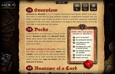 Screenshots vom Spiel Demons vs. Wizards – Magic Card & Dice Game für iPhone, iPad oder iPod.