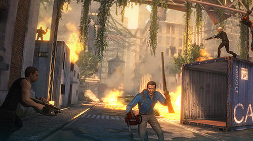 Screenshots vom Spiel Deploy and destroy featuring Ash vs. Evil dead für iPhone, iPad oder iPod.