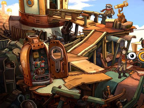 Capturas de pantalla del juego Deponia para iPhone, iPad o iPod.
