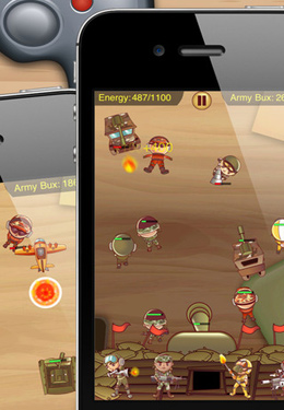 Screenshots of the Desktop Army game for iPhone, iPad or iPod.