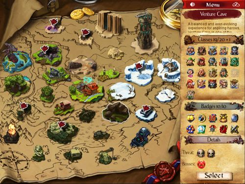 Screenshots of the Desktop dungeons game for iPhone, iPad or iPod.