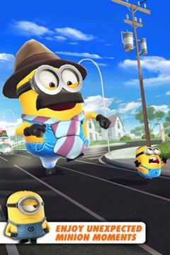 Скриншот игры Despicable Me: Minion Rush на Айфон.