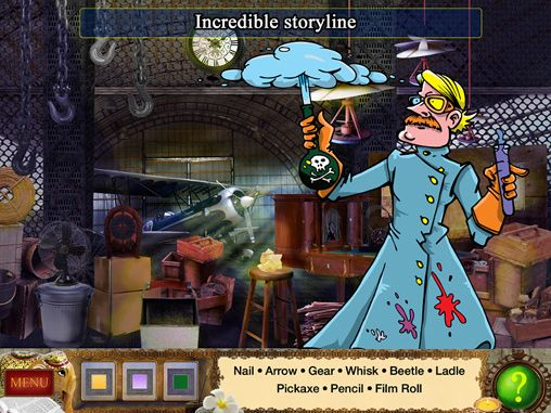Screenshots of the Detective Holmes: Trap for the hunter - hidden objects adventure game for iPhone, iPad or iPod.