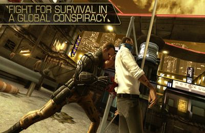 Screenshots of the Deus Ex: The Fall game for iPhone, iPad or iPod.
