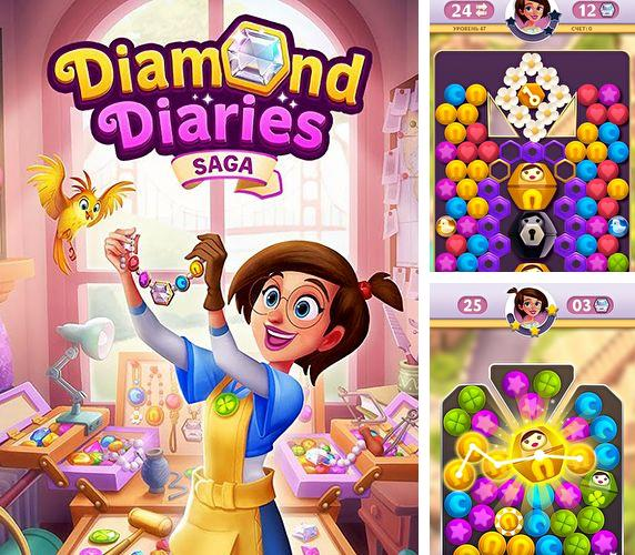 除了 iPhone、iPad 或 iPod 游戏,您还可以免费下载Diamond diaries saga, 。