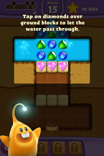 Capturas de pantalla del juego Diamond digger: Saga para iPhone, iPad o iPod.