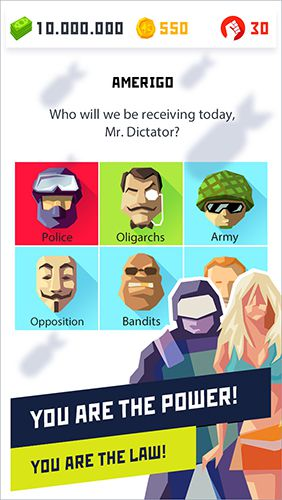 Capturas de pantalla del juego Dictator 2: Evolution para iPhone, iPad o iPod.