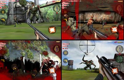 Screenshots of the Die Zombie Die game for iPhone, iPad or iPod.