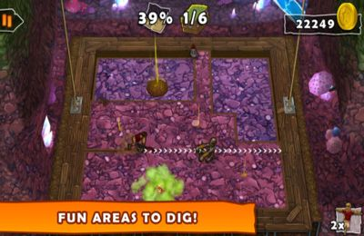 Screenshots of the Dig! game for iPhone, iPad or iPod.