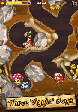 Capturas de pantalla del juego Diggin' Dogs para iPhone, iPad o iPod.