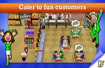 Screenshots of the Diner Dash Deluxe game for iPhone, iPad or iPod.