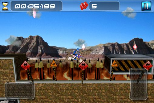 Descarga gratuita de Dirt bike impossible para iPhone, iPad y iPod.