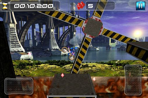 Écrans du jeu Dirt bike impossible pour iPhone, iPad ou iPod.