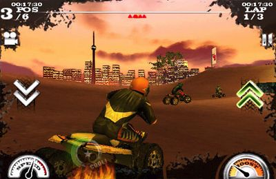 Capturas de pantalla del juego Dirt Moto Racing para iPhone, iPad o iPod.