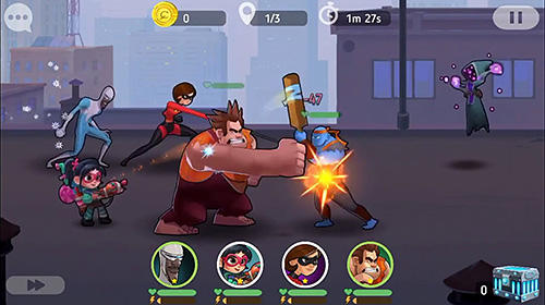 iPhone、iPad または iPod 用Disney heroes: Battle modeゲームのスクリーンショット。
