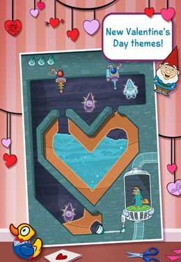 Écrans du jeu Disney Where's My Valentine? pour iPhone, iPad ou iPod.