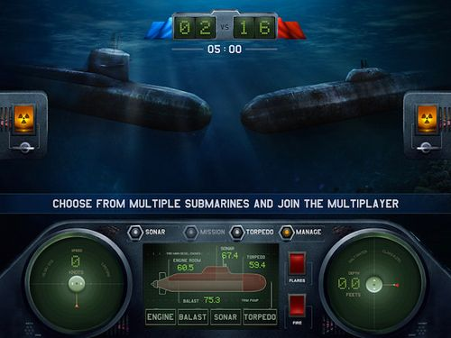 Écrans du jeu Dive for honour: Cold war pour iPhone, iPad ou iPod.