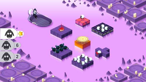 Screenshots of the Divide By Sheep game for iPhone, iPad or iPod.