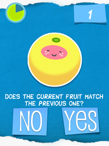 Screenshots of the Dizzy fruit? game for iPhone, iPad or iPod.