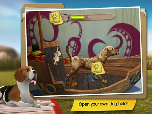 Download Dog hotel iPhone free game.