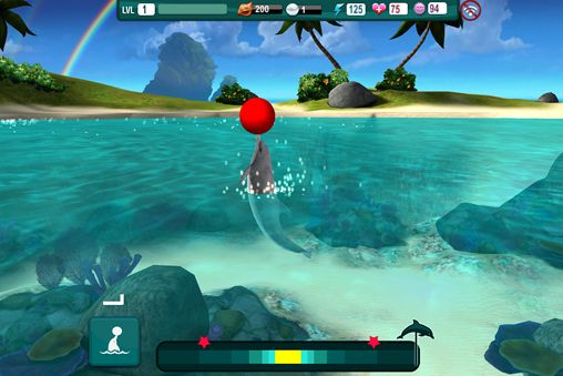 Écrans du jeu Dolphin paradise: Wild friends pour iPhone, iPad ou iPod.