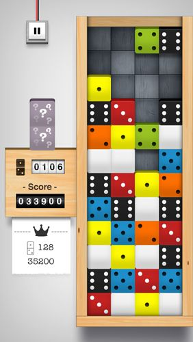 Écrans du jeu Domino drop pour iPhone, iPad ou iPod.