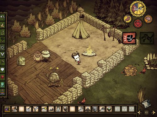 Screenshots vom Spiel Don't starve: Pocket edition für iPhone, iPad oder iPod.