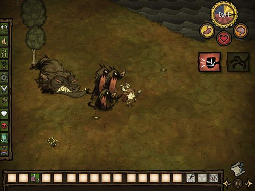 Скріншот гри Don't starve: Pocket edition на Айфон.