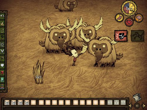 Геймплей Don't starve: Pocket edition для Айпад.