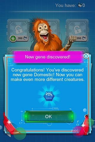 Screenshots of the Doodle creatures game for iPhone, iPad or iPod.
