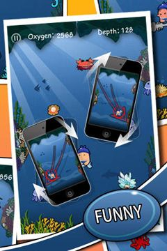 Screenshots of the Doodle Diver Deluxe game for iPhone, iPad or iPod.