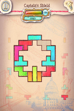 Écrans du jeu Doodle Fit 2: Around the World pour iPhone, iPad ou iPod.