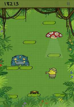 Screenshots do jogo Doodle Jump para iPhone, iPad ou iPod.