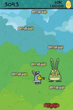 Screenshots of the Doodle Jump Easter Special game for iPhone, iPad or iPod.