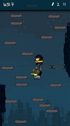 Free Doodle jump: Super heroes download for iPhone, iPad and iPod.