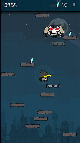 Screenshots of the Doodle jump: Super heroes game for iPhone, iPad or iPod.