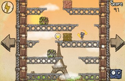 Capturas de pantalla del juego Doodle Rush para iPhone, iPad o iPod.