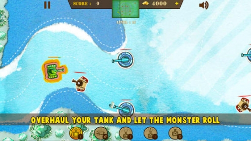 Screenshots of the Doodle Tank Battle game for iPhone, iPad or iPod.