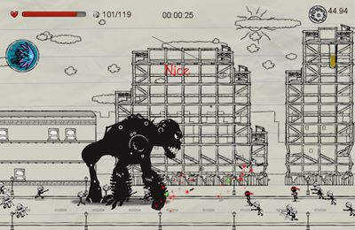 Screenshots vom Spiel Doodle vs Brute: World Domination für iPhone, iPad oder iPod.
