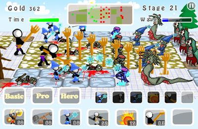 Download Doodle Wars 5: Sticks vs Zombies iPhone free game.