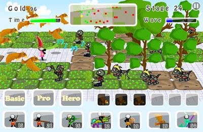 Screenshots of the Doodle Wars 5: Sticks vs Zombies game for iPhone, iPad or iPod.