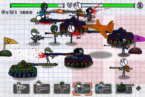 Écrans du jeu Doodle wars: Modern warfare pour iPhone, iPad ou iPod.