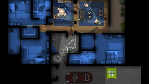 Screenshots of the Door kickers game for iPhone, iPad or iPod.