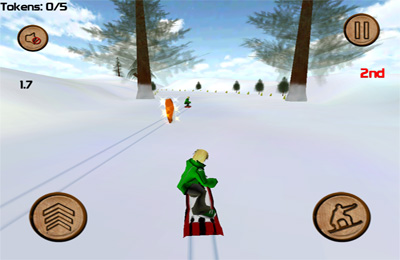 Capturas de pantalla del juego DownHill Racing para iPhone, iPad o iPod.